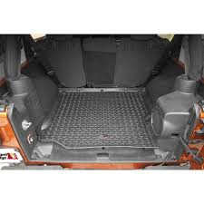 jeep parts buy rugged ridge rear cargo liner in black for 2011