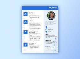 Awesome Resume Template Material Design Resume Template Uplabs