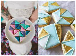 trend alert gold geometric wedding inspiration loversiq