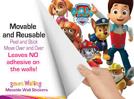 Wall Sticker Australia Paw Patrol Wall Stickers Totally Movable And Reusable