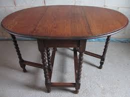 antique drop leaf gate leg table oak barley twist oval gateleg drop leaf dining table furniture