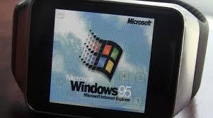 Nicklee Apple Watch Running On Windows 95 Developer Nick Lee Made It