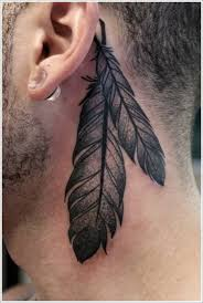 small feather tattoos designs ideas behind ear tattoo design ideas