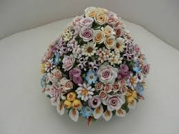 capodimonte basket of roses capodimonte floral centerpieces capodimonte flowers centerpiece