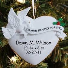 in memory of gifts personalised in loving memory ornaments christmas learntoride co