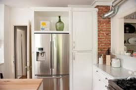 refrigerator kitchen cabinet design ideas beautiful kitchen with chic fridge design