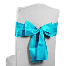 turquoise chair sashes satin chair sashes