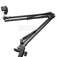 new adjustable desktop microphone mic suspension boom scissor arm