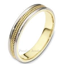 braided band braided 4mm two tone wedding band prestige wedding bands