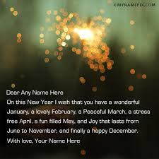 new year greetings for anyone with name