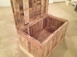 Build A Toy Box Out Of Pallets by Trunks And Chests Furniture Foter