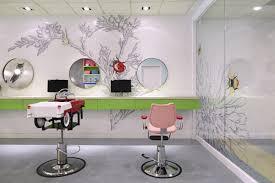 Table Salon Design Interiors Design Colorful Nature Inspired Hair Salon For Kids In New York