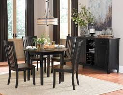 two tone dining table set homelegance three falls round dining set two tone dark brown black