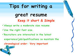 How To Make A Good Resume For Students Effective Resume Writing