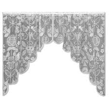 Black And White Polka Dot Valance Heritage Lace Valances U0026 Kitchen Curtains You U0027ll Love Wayfair