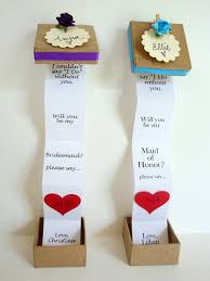 bridesmaids invites set of four 4 pop up message in a box will you be my by petite25