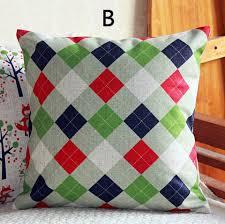 Cheap Sofa Pillows Fox Animal Print Pillows For Couch Geometric Plaid Sofa Cushions