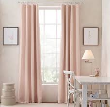 Petal Pink Curtains Linen Cotton Drapery Panel