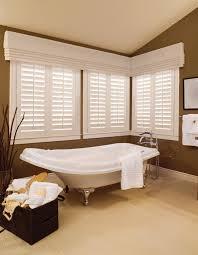 bathroom window treatments sunburst shutters southern ca
