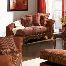 Chenille Living Room Furniture by Chenille Fabric Traditional Living Room Savona U142 Red