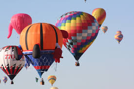 balloon fiesta ascensions create cluster of color nasa