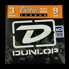 Light Guitar Strings by Dunlop 3pden0942 Electric Guitar Strings 3 Pack Light 9 42