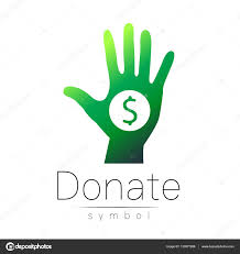 halloween icon background donation sign icon donate money hand charity or endowment symbol