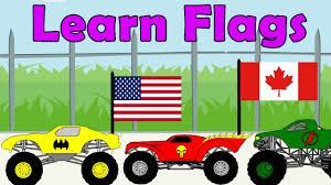 monster truck videos monster truck videos learning flags with monster truck kids learning videos monster