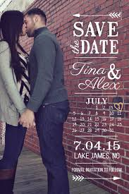 diy custom photo save the date vertical template vintage arrows