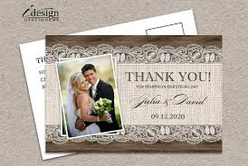 wedding thank you card 10 rustic thank you cards free sle exle format