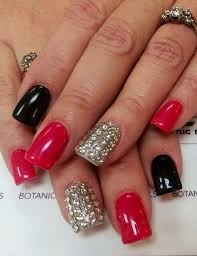 red u0026 black the perfect combination for a perfect manicure