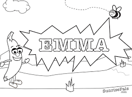 emma coloring pages coloring