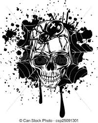 abstract background skull spider and web abstract vector vector