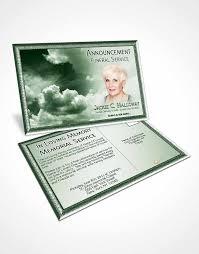4 page grad fold funeral program template brochure fiery emerald