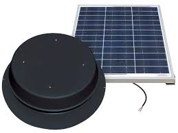 natural light 60 watt solar attic fan black infinigi