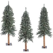 artificial trees unlit artificial trees