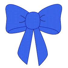 blue bows blue bow ribbon clipart