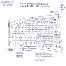 Plot Map Mount Ararat Jewish Cemetery Star Of David
