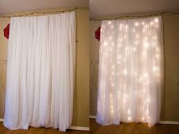 sheer curtains with lights do it yourself sheer curtains christmas lights and dangles