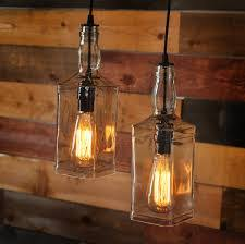 Industrial Lighting Chandelier Recycled Wine Bottle Hanging L With Edison Lightbulb Industrial