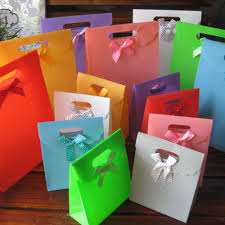 plastic ribbon plastic wedding party favor gift bags with bow details