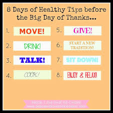 peace and 8 days of healthy tips before
