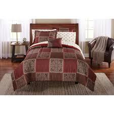 mainstays tiles bed in a bag bedding comforter set walmart