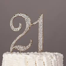 21 cake topper 21 cake topper gold rhinestone metal number decoration