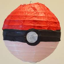 how to make pokeball paper lantern