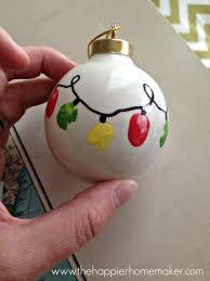 diy kid s fingerprint ornament the happier homemaker