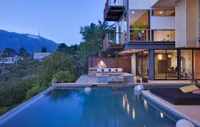 hollywood sign infinity pool interior design ideas