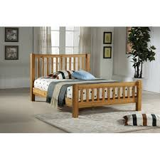 solid oak 3ft single wooden bed frame