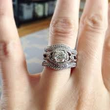wedding band ideas engagement ring with wedding band