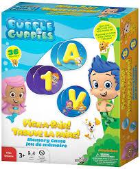 amazon com bubble guppies pick a pair memory game toys u0026 games